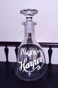 Old I.W. Harper ..Pinch Style.. decanter