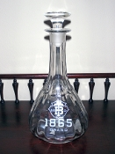 T and B Company 1865 Brand Back Bar Bottle Decanter