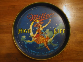Miller High Life Beer Serving Tray