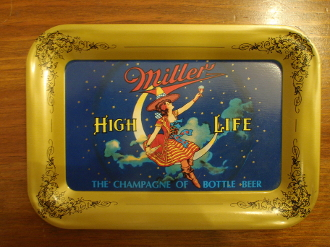 MIller High Life Beer Tip Tray
