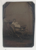 Baby in a Carriage Tintype