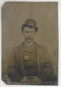 Policeman With Badge Tintype