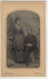 Lady and Dracula Tintype