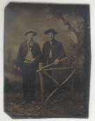 Western Duo With Guns Tintype