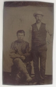 Two Western Cowboys Tintype