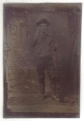 Frontiersman with Bowie Knife and Winchester Tintype