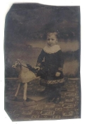 Boy with Rocking Horse Tintype