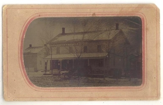 Drugs and Medicine Store with Buggy Tintype