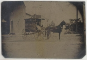 Grocer Delivery Wagon Tintype