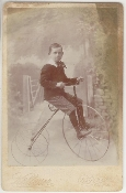 Boy on Tricycle Cabinet Card