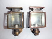 Carriage Buggy Early Automobile Pair of Lamps