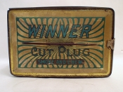 Winner Cut Plug Smoke and Chew Vintage Lunch Box-Style Tin