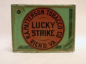 Lucky Strike Tobacco Square Tin