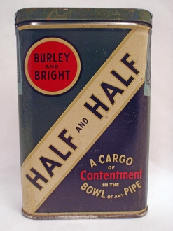 Half and Half Burley and Bright Tobacco Tin