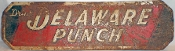 Delaware Punch Outdoor Advertising Metal Tin Sign