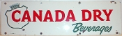 Canada Dry Beverages Metal Tin Sign