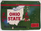 Ohio State Cigars More for Your Money Metal Tin Sign