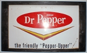 Dr. Pepper The Friendly Pepper Upper Metal Sign