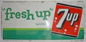 Fresh Up with 7up Metal Sign