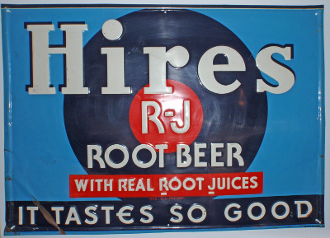 Hires Root Beer Metal Tin Advertising Sign