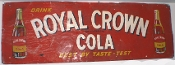 Royal Crown Cola Best By Taste Test 1951 Outdoor Metal Tin Sign