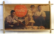 Coca Cola Very Rare Historical First Black Model Cardboard Sign