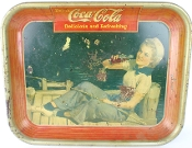 Coca Cola Delicious and Refreshing 1940 Vintage Serving Tray