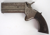Woodwards No 105 Over Under Swivel Double Barrel Derringer