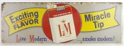 L and M Cigarett Metal Tin Advertising Sign