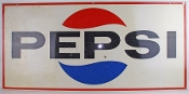 Pepsi Cola 2-Sided Metal Advertising Sign