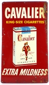 Cavalier King Size Cigarettes Extra Mildness Tin Sign