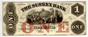 1 Dollar The Sussex Bank of New Jersey unused Bank Note