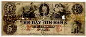 5 Dollar The Dayton Bank note from St. Paul, Minnesota