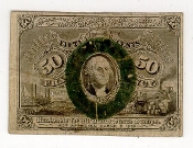 50 Cent United States Fractional Currency Second Issue Note