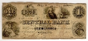 1 Dollar Central Bank of Alabama Obsolete Currency Note 1861