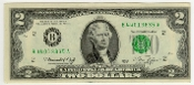 2 Dollar Bicentennial Bill Federal Reserve 1976 Series
