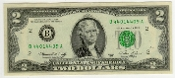 2 Dollar Bill 1976 Bicentennial Federal Reserve.