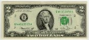 2 Dollar Bill 1976 Bicentennial Federal Reserve