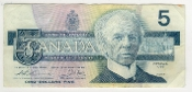 Canada 1986 Five Dollar Circulated Note