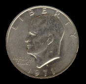 1971 D IKE Eisenhower Dollar Coin