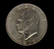 1971 D Eisenhower IKE Dollar Coin