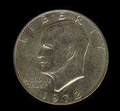 1972 Eisenhower IKE Dollar Coin