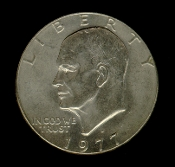 1977 D Eisenhower Dollar IKE Coin