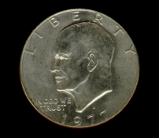 1977 D Eisenhower IKE Dollar Coin