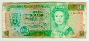 Belize One Dollar Note