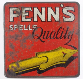 Penn's Spells Quality Natural Leaf Thin Vintage Tobacco Tin