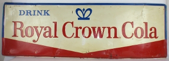 Royal Crown Cola Drink Royal Crown Cola Metal Advertising Sign