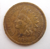 1901 Indian Head Penny One Cent Coin