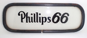 Phillips 66 Ad Glass for Gas Pump at Gas Station