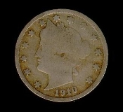 5 Cent 1910 Liberty Head V Nickel Five Cent Coin